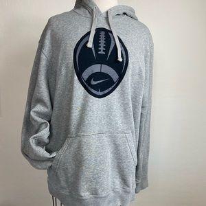 Nike Hoodie L gray with football logo